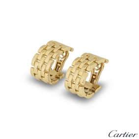 Cartier Yellow Gold Maillon Panthere Earrings